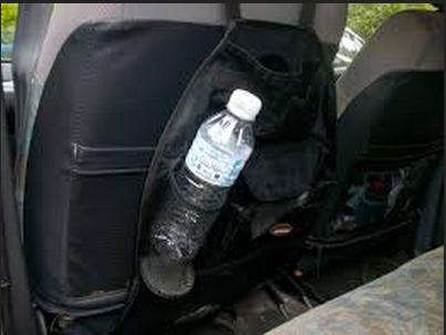 botol plastik dalam kereta