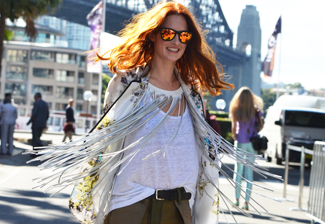 Taylor Tomasi Hill, mirrored sunglasses