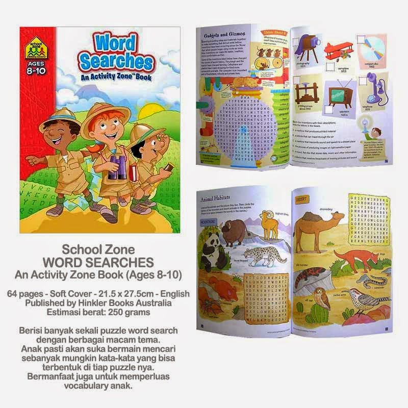 Book Cover School Zone ~ Planet bayi school zone word searches an activity