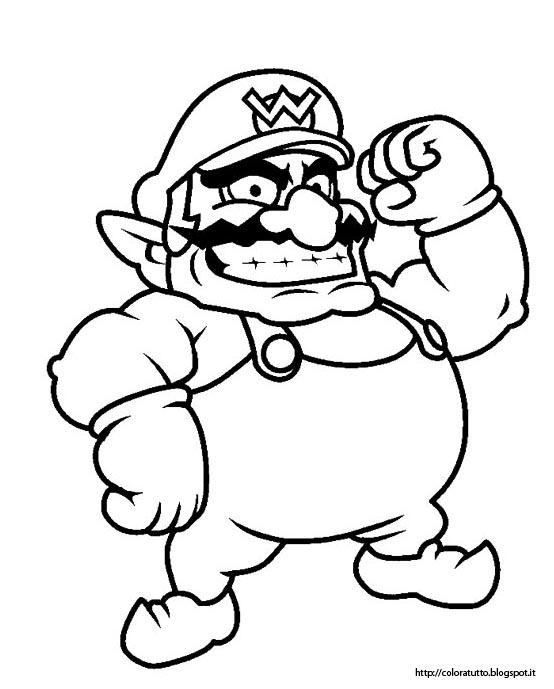 Mario disegno da colorare n 4 for Nintendo land coloring pages