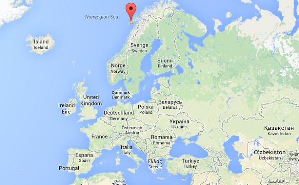 Mapa islas lofoten europa