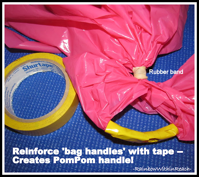 photo of: Details for Upcycled PomPom Shakers from Plastic Bag (via RainbowsWIthinReach)