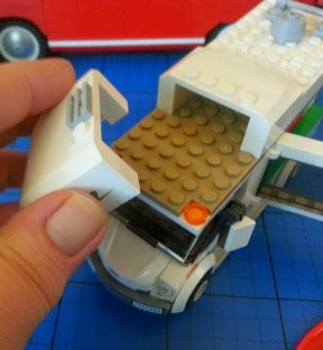 LEGO Camper Van model 60057 campervan interior high bed removable roof