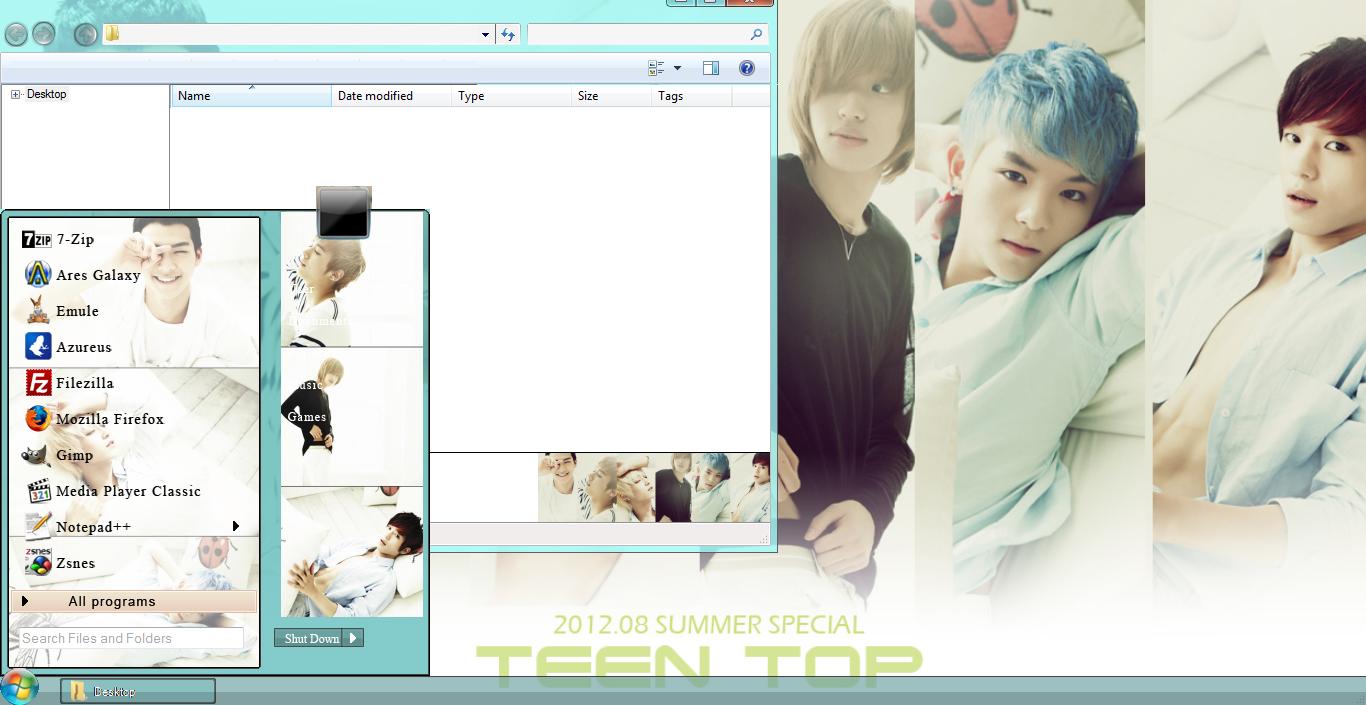Teen Top Be Ma Girl Windows 7 Theme Download Dinda