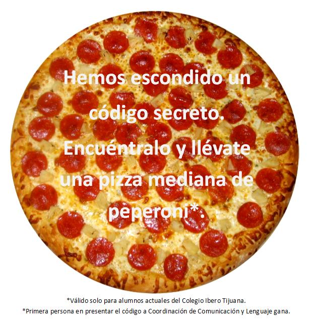 Nadie ha encontrado el código de la pizza gratis aun. ¡Qué pena!