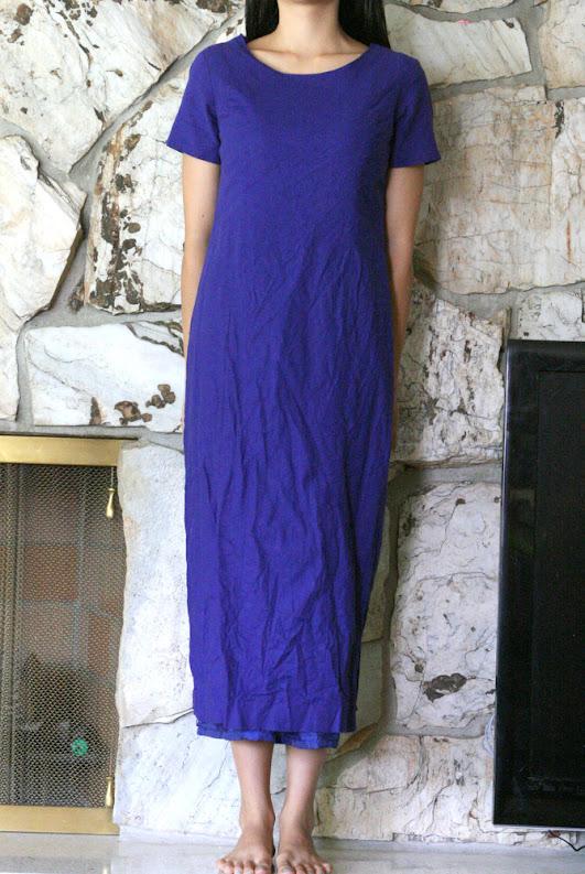 thrift store mumu turned gorgeous peplum dress!