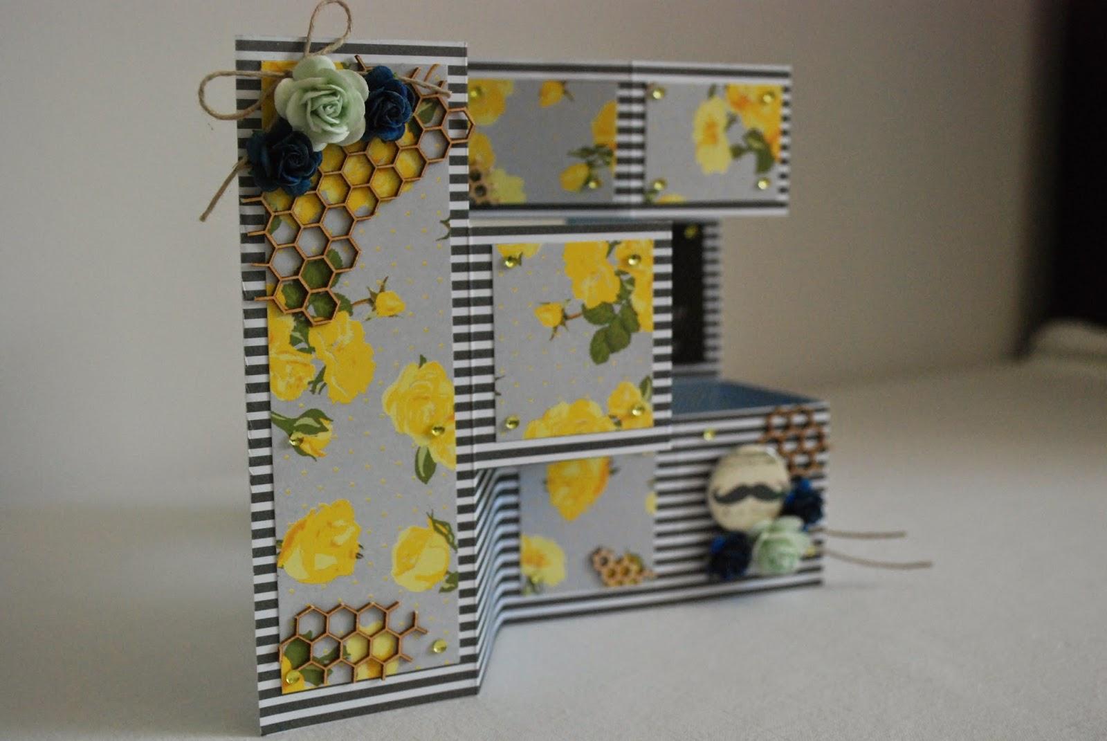 kartka harmonijkowa dla taty, card for dad, yellow flowers