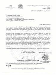 Carta del Gobierno de Mxico