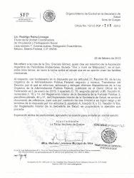 Carta del Gobierno de México