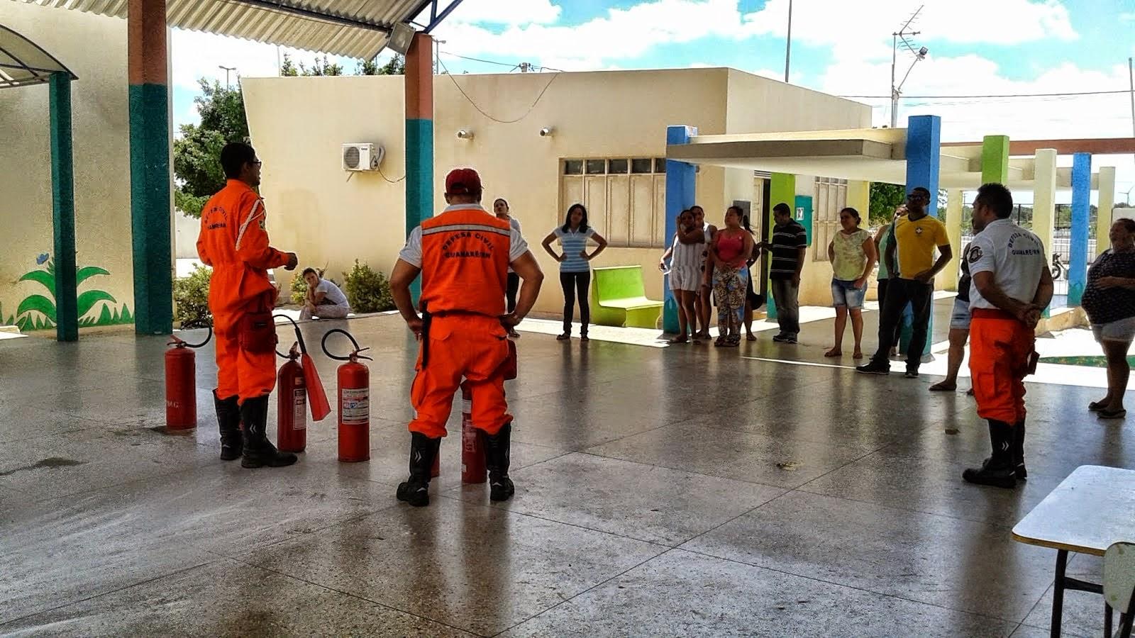 DEFESA CIVIL DE REALIZA INSTRUÇÃO EDUCATIVA NO COMBATE A PRINCIPIO DE INCÊNDIO
