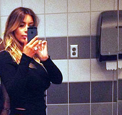 Kim Kardashian sex in public bathroom