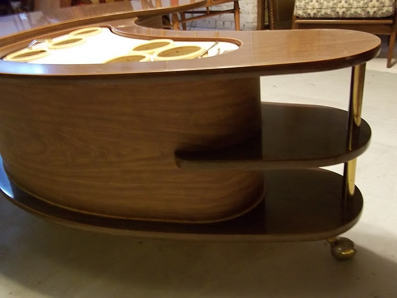 Mid Century Boomerang Pop Up Bar Coffee Table Sold Gatyo Retro