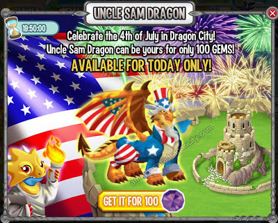 Especial Dragon Tio Sam En Dragon City Amigos Para Dragon City