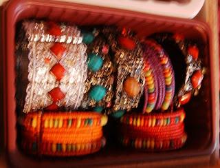 Pink Calico Bracelets