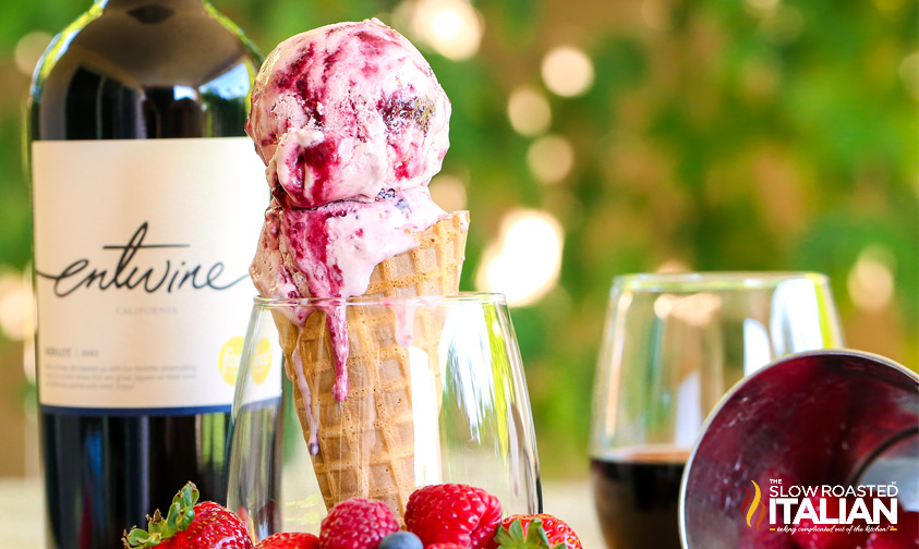 Triple Berry Sangria Ice Cream #TSRISummer #IceCream #Recipe