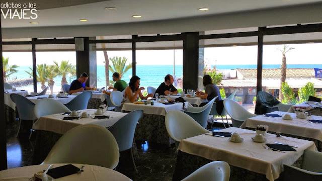 Restaurante Mirador. lugar de desayuno del Hotel Calípolis Sitges