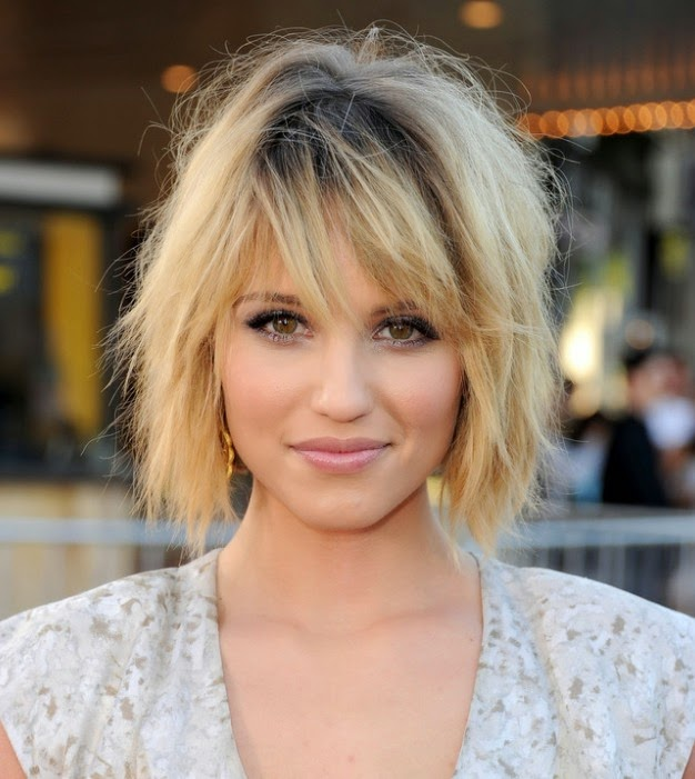 dianna agron hairstyles long}