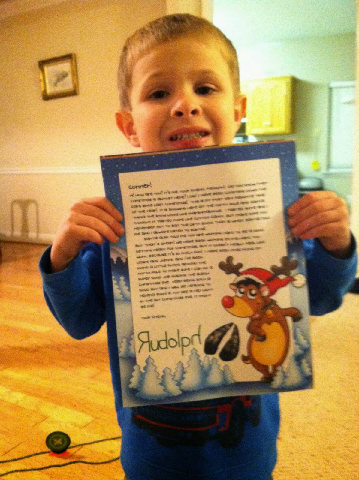 Santa Will Write:  Letter from Rudolph