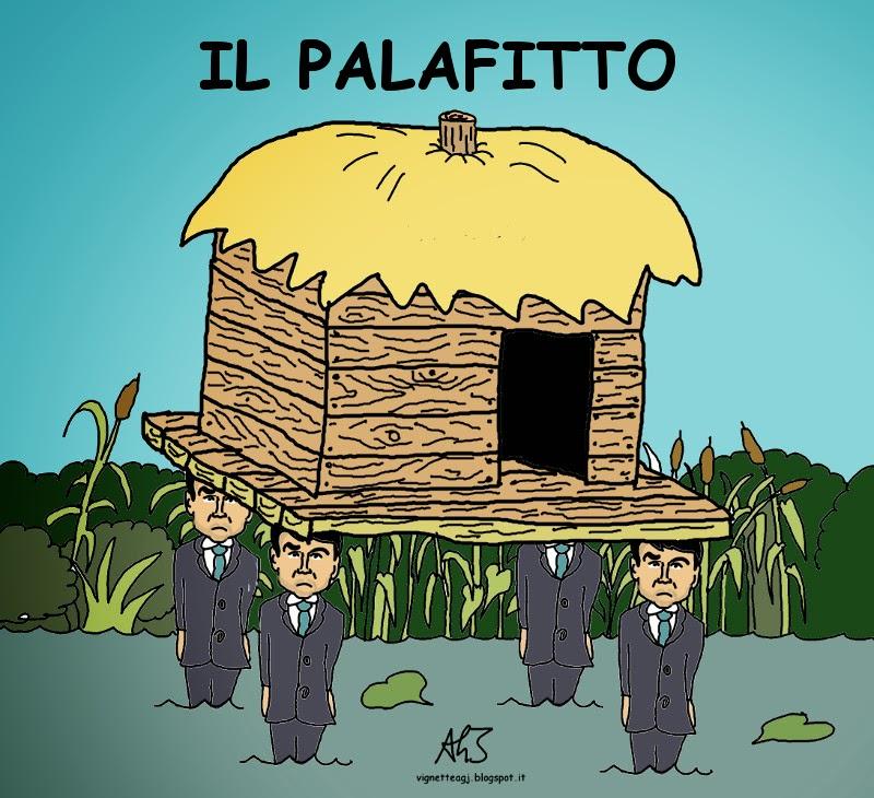 Fitto, Forza Italia, Patto Nazareno, vignetta , satira
