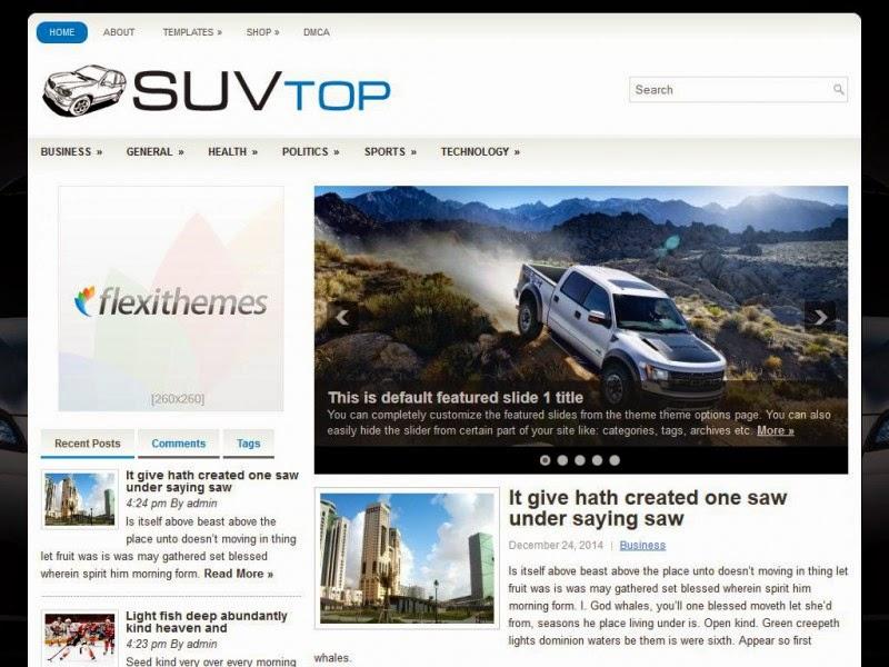 SuvTop - Free Wordpress Theme