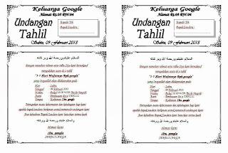Download Undangan Tahlil Doc. 2003 - 2007