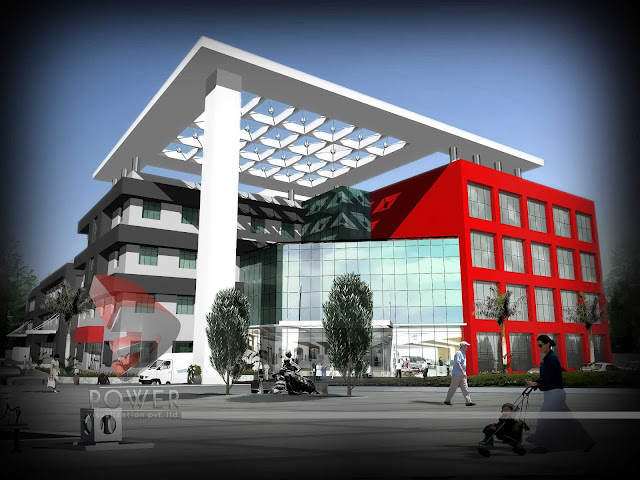 3d architecture rendering hospital,Hospital architecture design