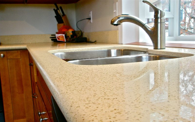 Honing in on home improvement granite countertop alternatives for Who makes quartz countertops