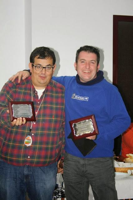 Alberto Calderón, piloto de Peñacaballera, y su copiloto Juanjo Martín Campeones de Extremadura de Rallyes de Regularidad.