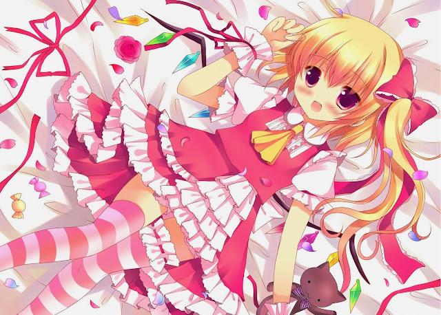 Touhou,flandre scarlet,anime girl