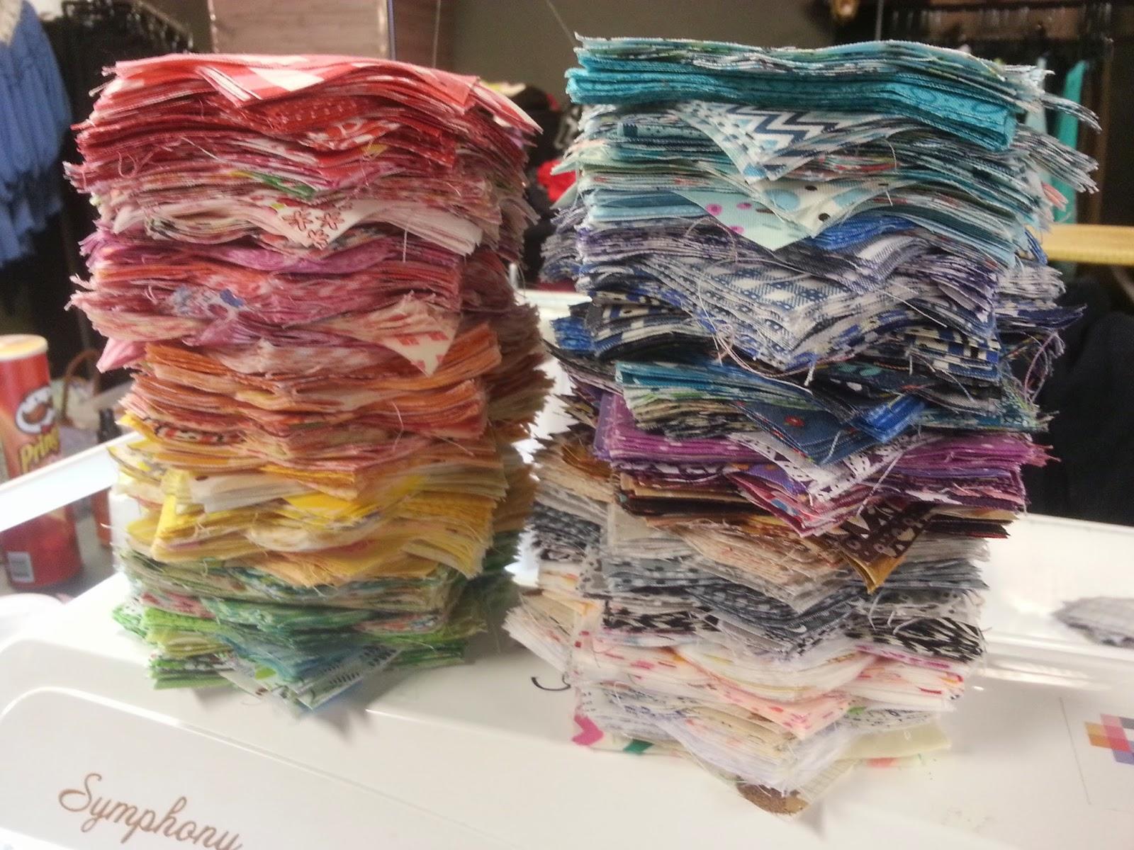 Rainbow Patchwork Quilt Squares