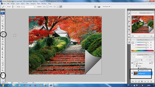 Membuat Lipatan Pada Photo Dengan Photoshop
