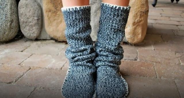 chaussons récup laine