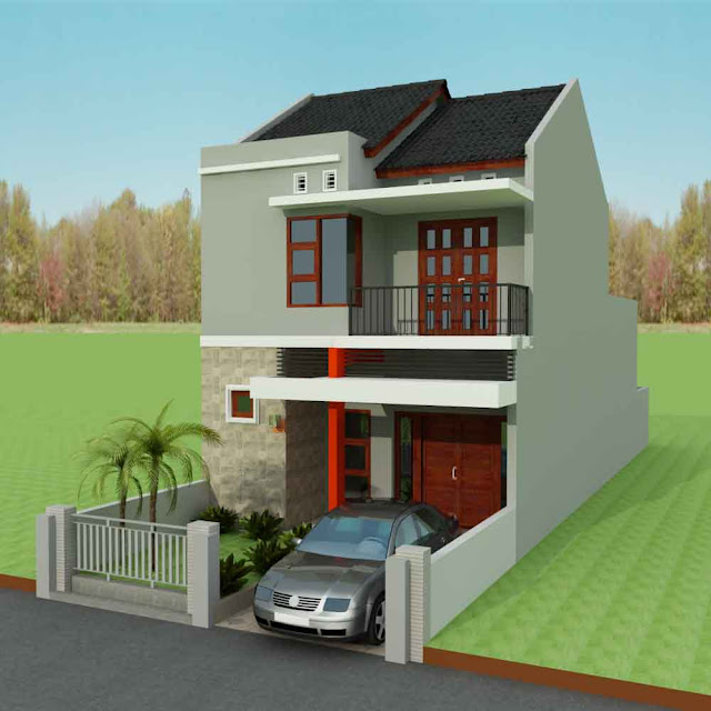 rumah minimalis type 36 2 lantai sederhana