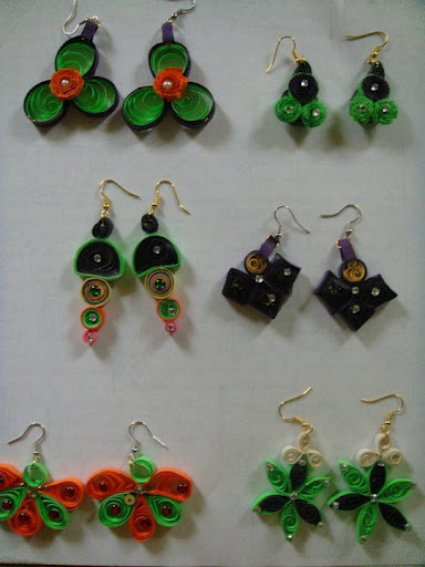 Quilling Earrings Designs Latest : Paper Quilling / Artificial jewellery: Quilling New Designs