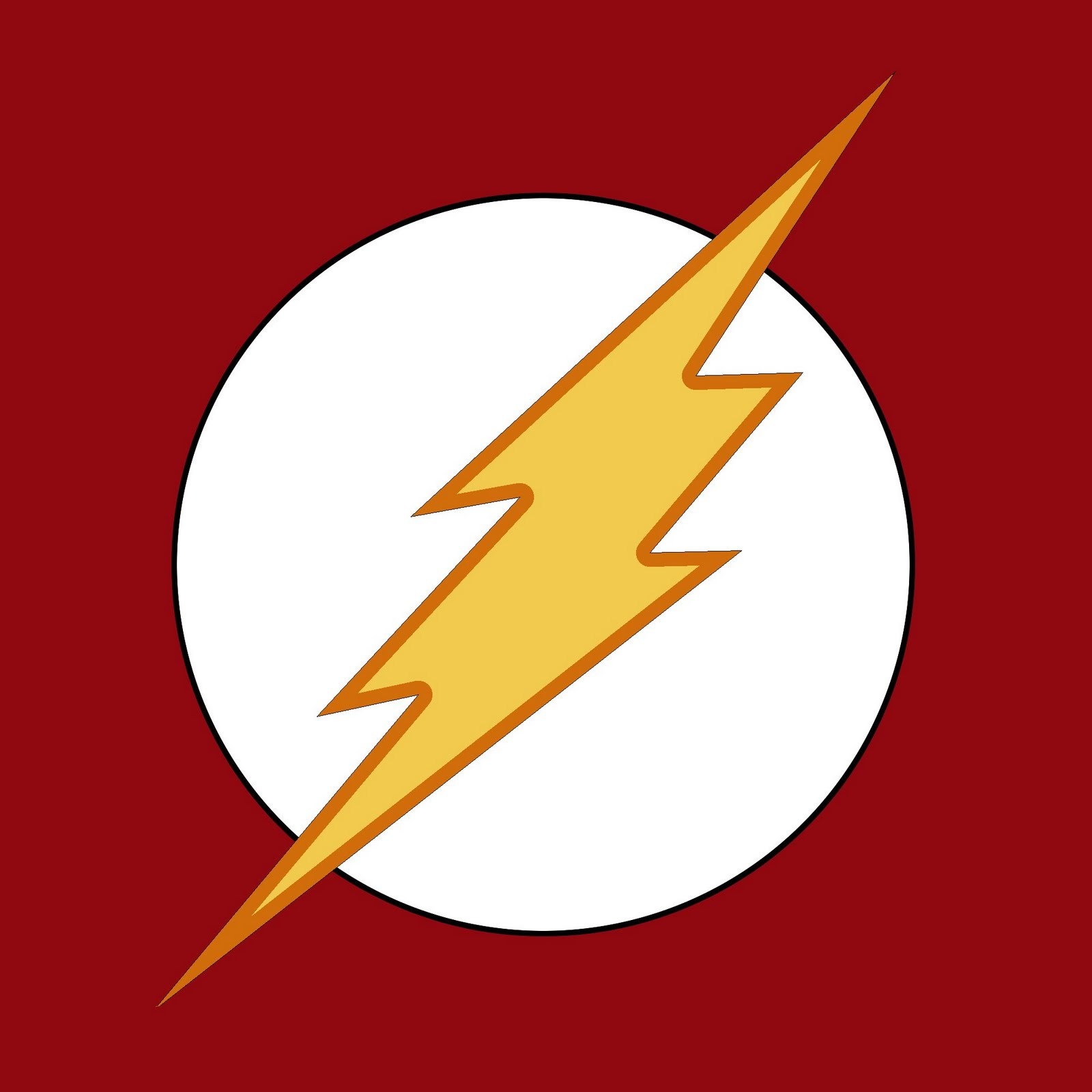 Flash Superhero Logo B...