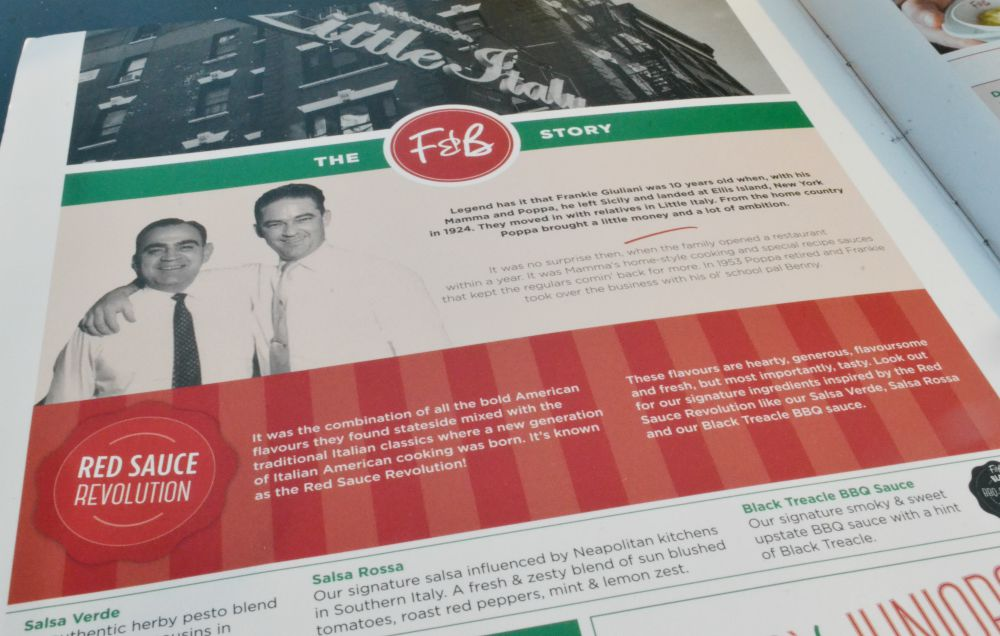 menu frankie and bennys fort glasgow