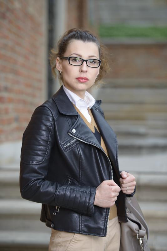skórzana ramoneska Zara fashionblog