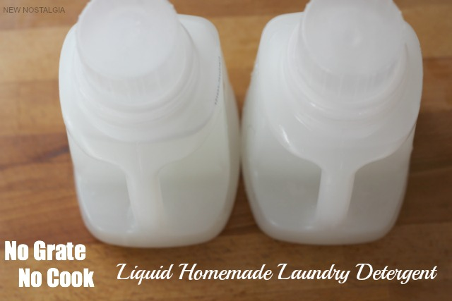 Liquid homemade laundry detergent