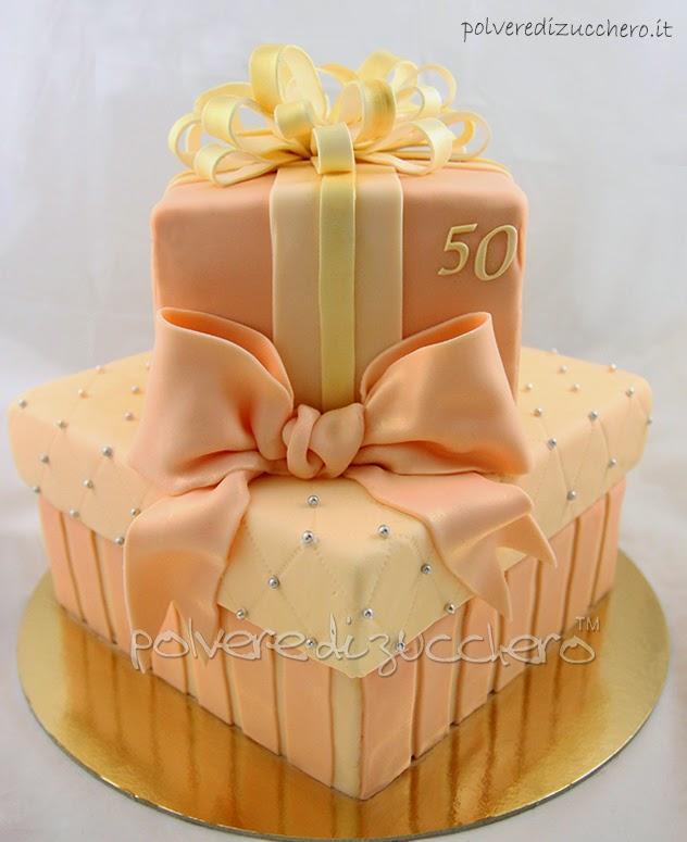 torta 50esimo compleanno: ricetta sponge cake e torta pacchi regalo a due piani