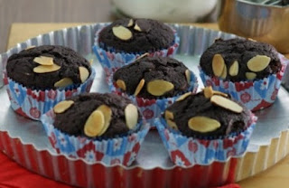 Brownies Almond Cup