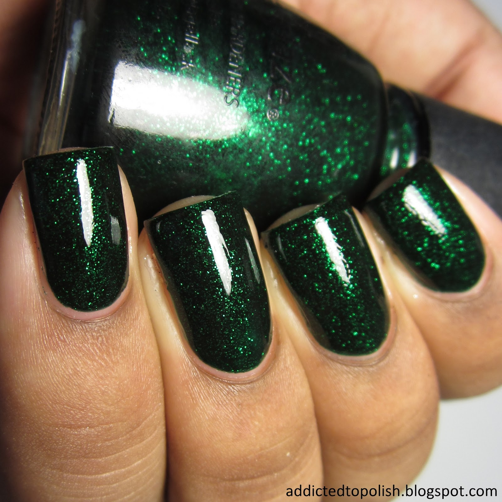china glaze emerald sparkle