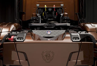 fotos de camiones scania v8 black amber trasera2