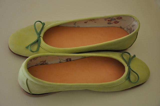 orecchini verde menta, ballerine verde menta, colori estate 2012