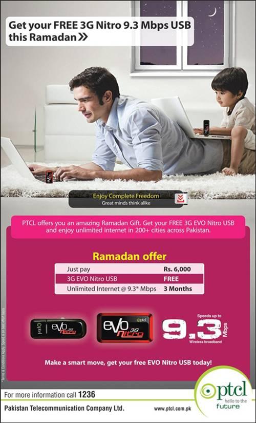 Free PTCL Evo Nitro USB Device