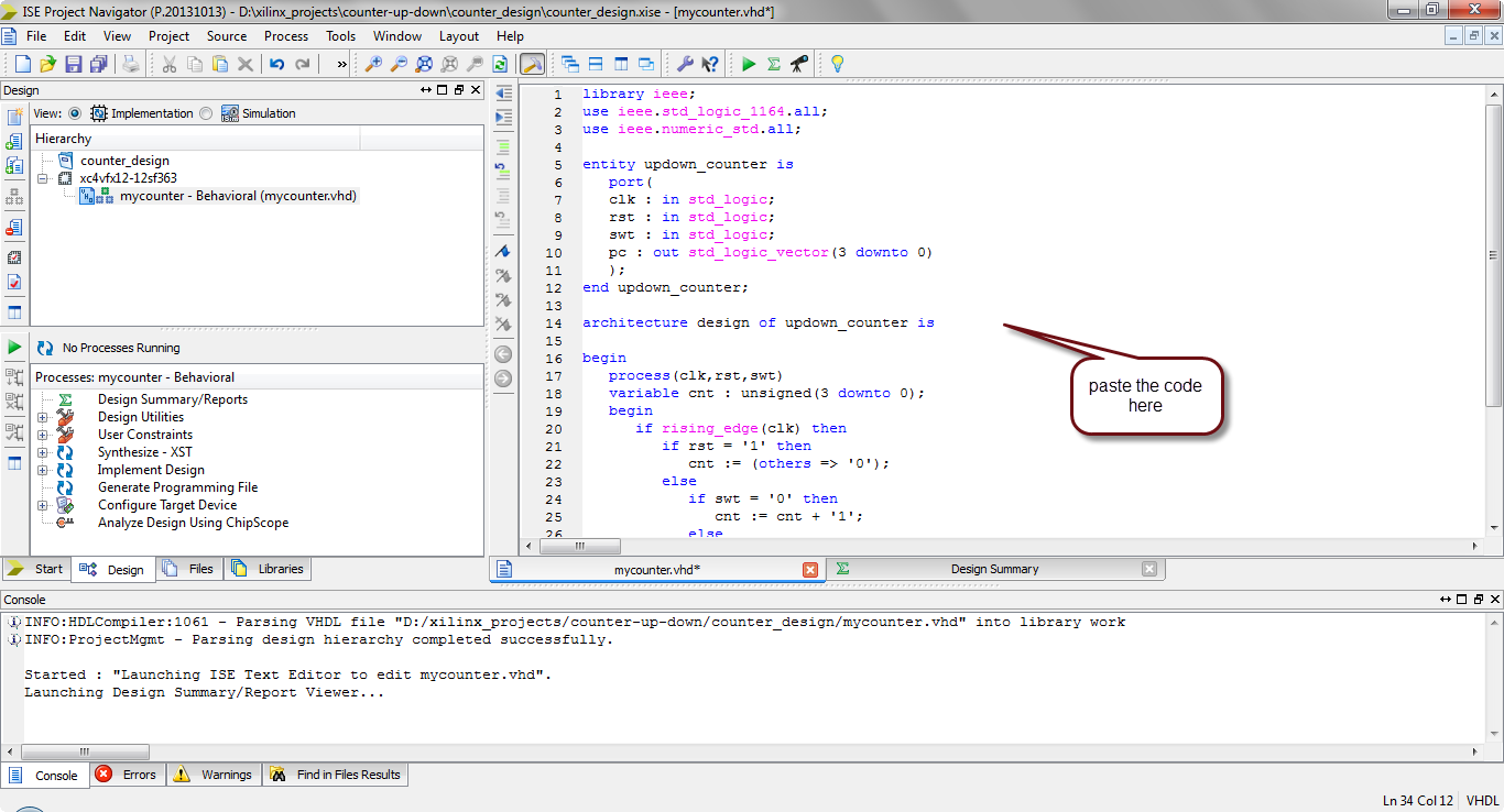how to simulate vhdl code in xilinx?10