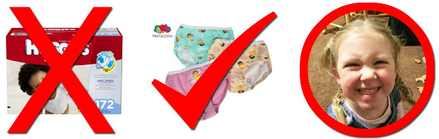 potty training success image of