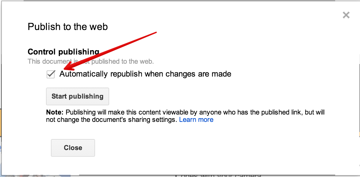 New google drive tip publish google docs as web pages for Google documents version control