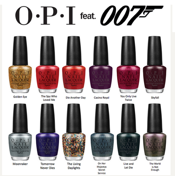 vagabond teen: OPI Collection: Skyfall 007 James Bond