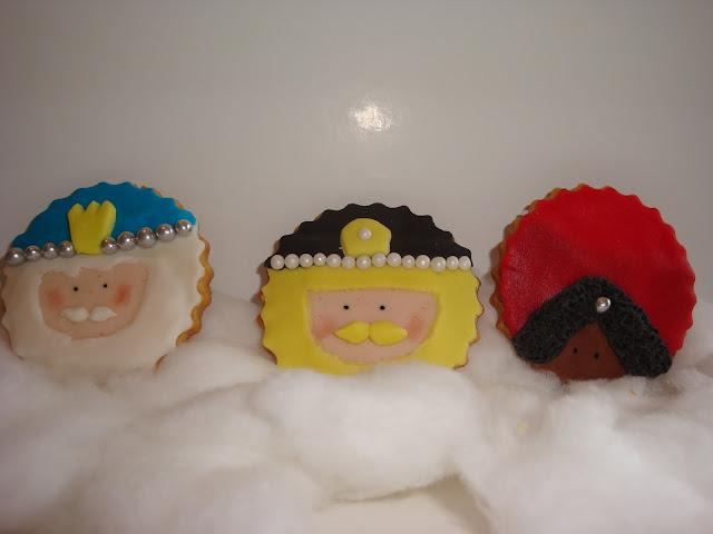Galletas fondant Reyes Magos Navidad