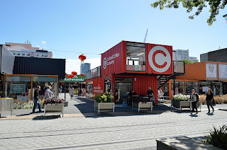Container mall in Christchurch